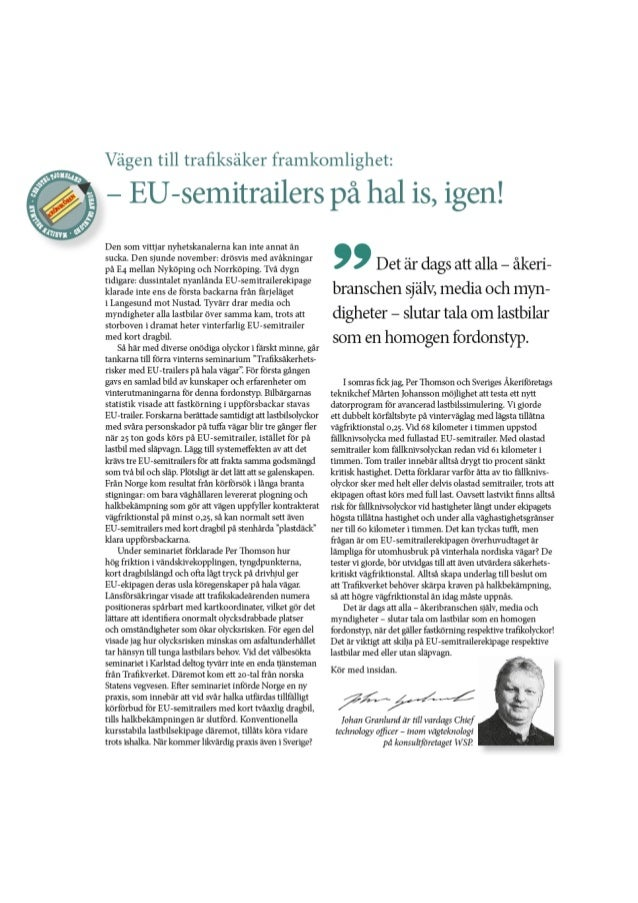 EU-semitrailers på hal is, igen!