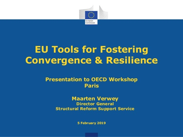 EU Tools for Fostering Convergence & Resilience Presentation to OECD Workshop Paris Maarten Verwey Director General Struct...