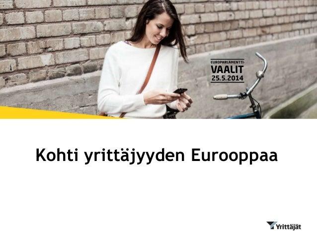 Kohti yrittäjyyden Eurooppaa