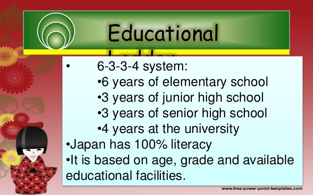 report education system in japan The content of the japanese education system, from kindergarten  the  japanese government develop education policies, issued a report.