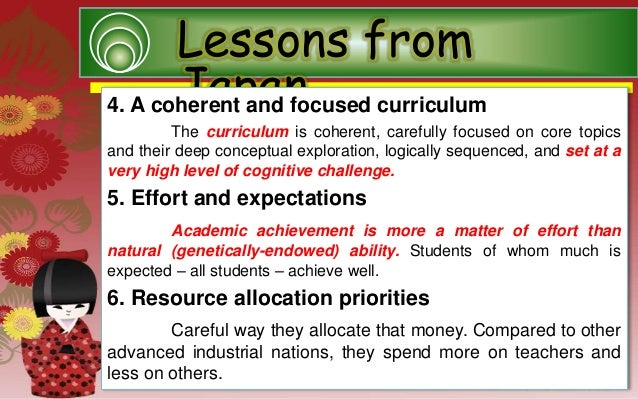 Educational system of japan manondog report