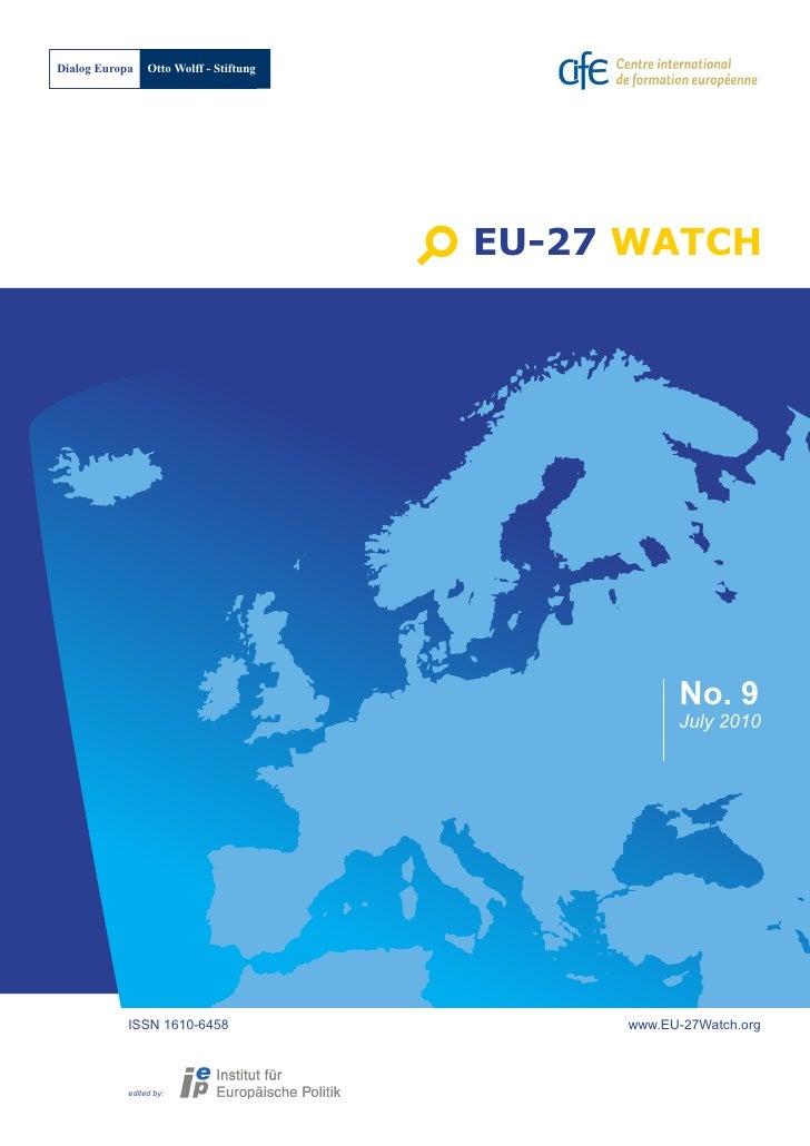 Dialog Europa    Otto Wolff - Stiftung                                              EU-27 WATCH                           ...