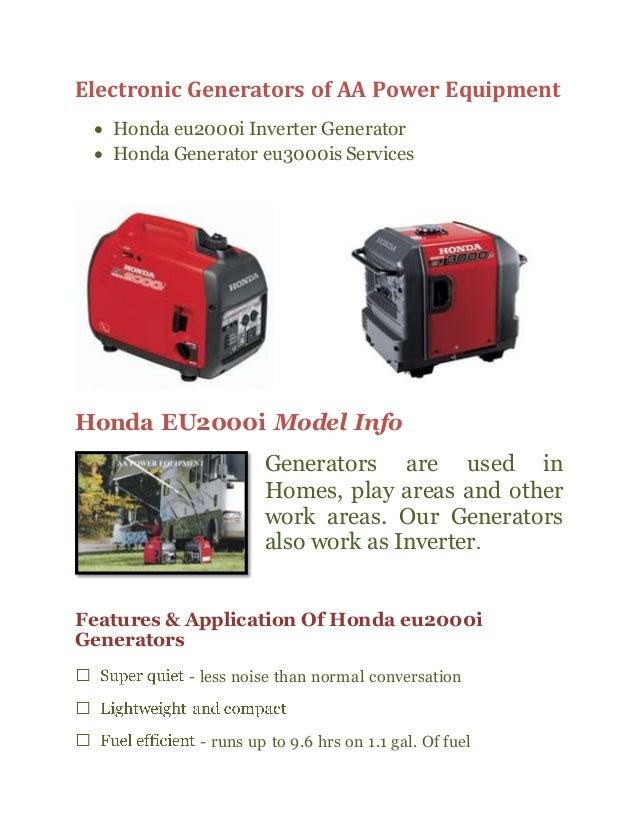 Honda Eu3000is Generators at Reasonable prices