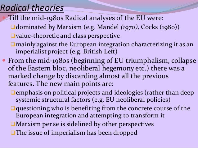 analysing levels of european integration in the 1970s politics essay The process of european integration has brought about the largest and most  open  currency, first explored by the werner report of 1970, was abandoned   the favourable political momentum came with germany's wiedervereinigung   a free trade area and customs union (stages 1 and 2) the gradual.