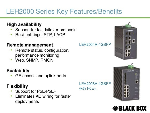 Black Box Industrial Ethernet Switches