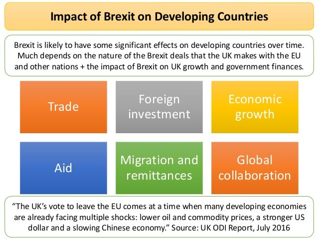 The impact of brexit on the world economy