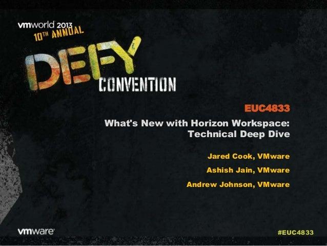 What's New with Horizon Workspace: Technical Deep Dive Jared Cook, VMware Ashish Jain, VMware Andrew Johnson, VMware EUC48...