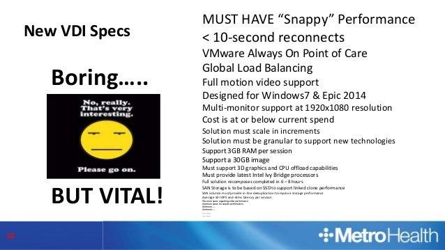 "VMworld 2015: The ""Snappy"" Virtual Desktop User Experience"