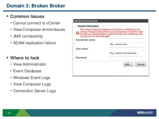 VMworld 2013: VMware Horizon View Troubleshooting: Looking