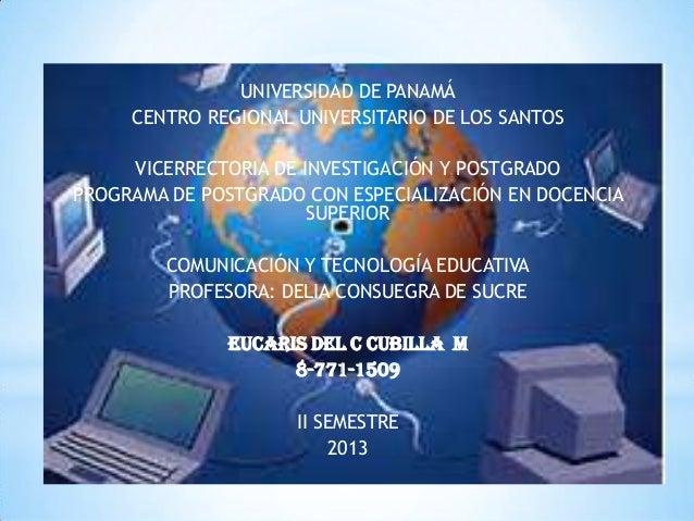 UNIVERSIDAD DE PANAMÁ CENTRO REGIONAL UNIVERSITARIO DE LOS SANTOS VICERRECTORIA DE INVESTIGACIÓN Y POSTGRADO PROGRAMA DE P...