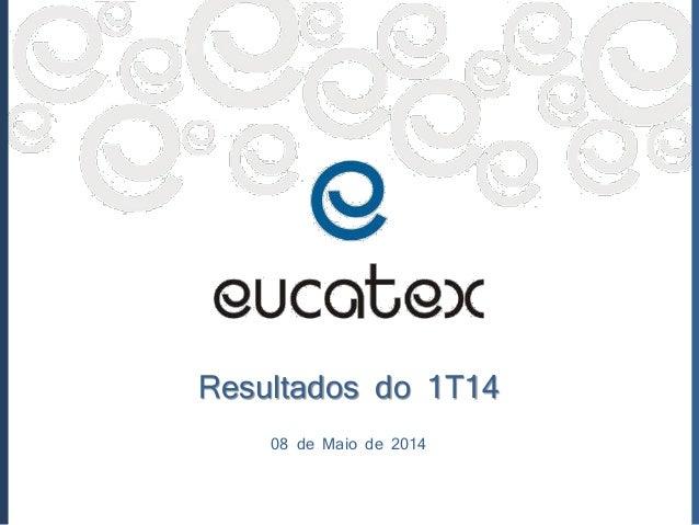 Resultados do 1T14 08 de Maio de 2014