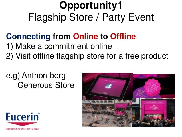 Opportunity1      Flagship Store / Party EventConnecting from Online to Offline1) Make a commitment online2) Visit offline...