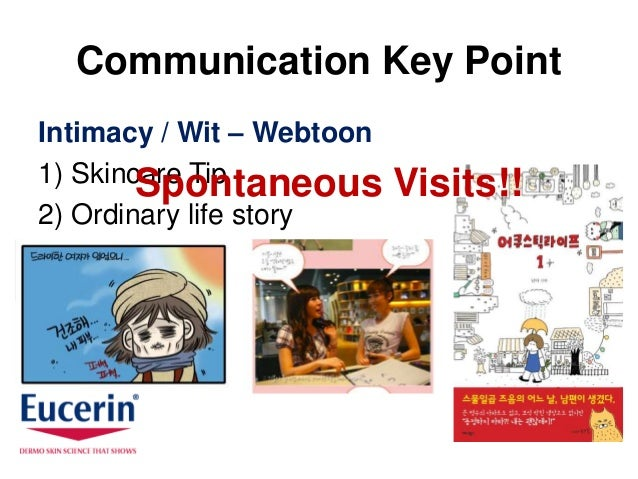 Communication Key PointIntimacy / Wit – Webtoon1) Skincare Tip        Spontaneous        Visits!!2) Ordinary life story