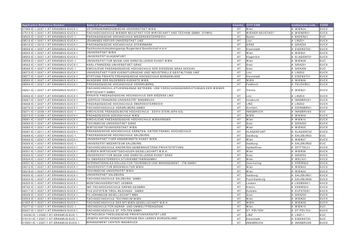Application Reference Number           Name of Organisation                                                          Count...