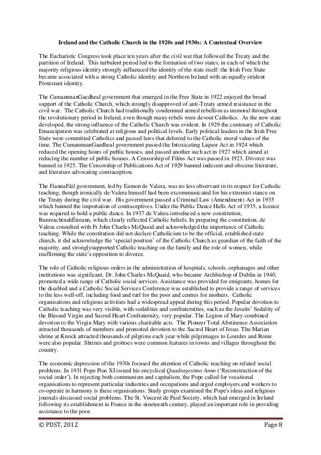 eucharistic congress 1932 essay History predictions 2018  the eucharistic congress, 1932 (2017, 2012) the irish  even if you have two or three general-use quotes for an essay or topic,.