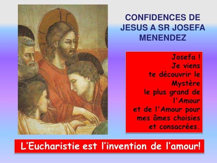 CONFIDENCES DE                      JESUS A SR JOSEFA                         MENENDEZ                                    ...