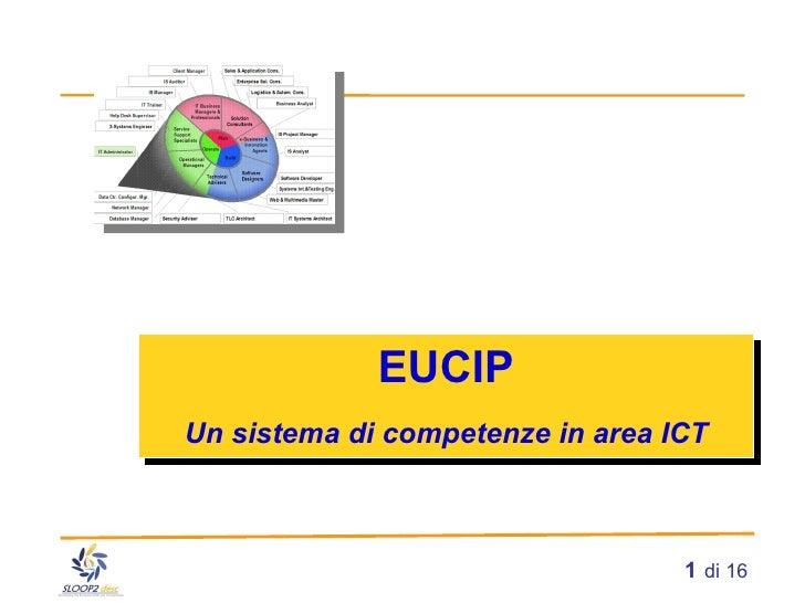 EUCIP Un sistema di competenze in area ICT