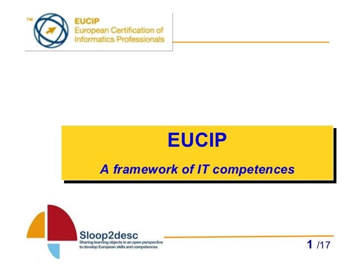 EUCIP A framework of IT competences   /17