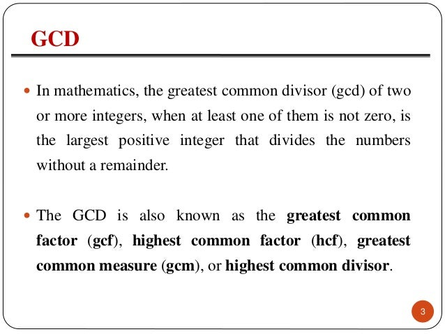 how to find greatest common divisor