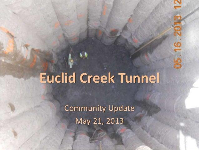 euclidcreek.blogspot.comEuclid Creek TunnelCommunity UpdateMay 21, 2013