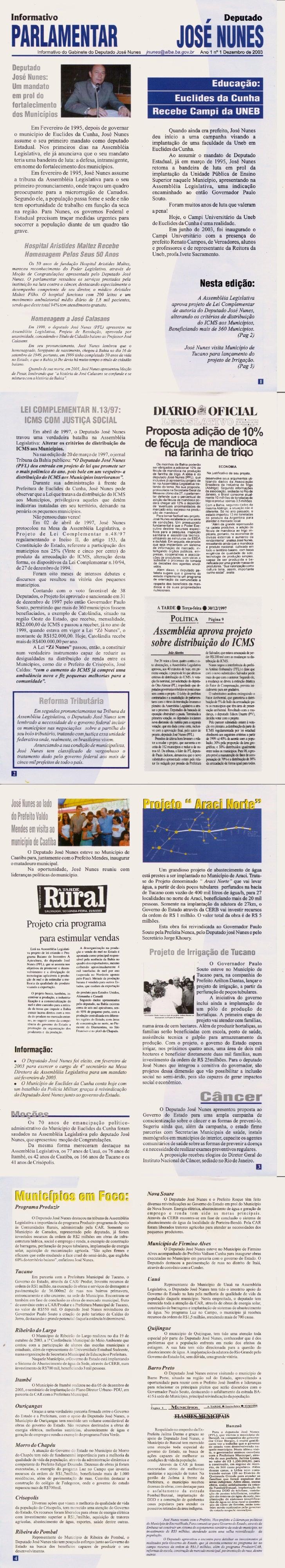 Boletim Informativo - Município de Euclides da Cunha