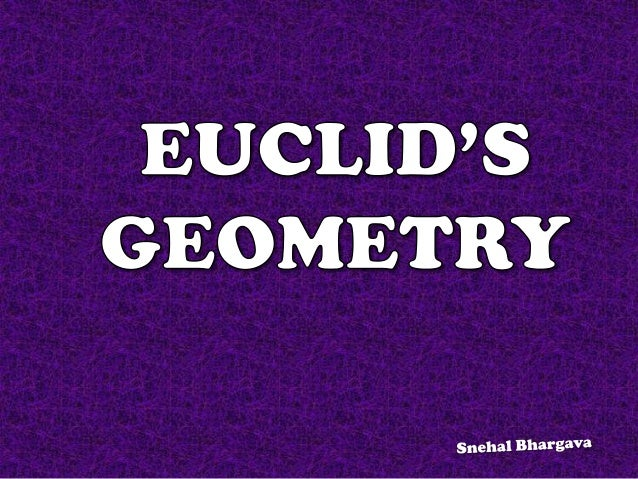 Geometry (geo-earth, metron-measurement) is a branch of mathematics which deals with questions related to shape, size, rel...