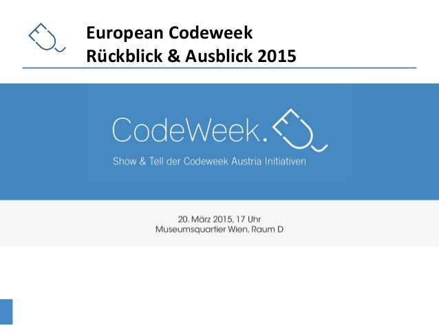 European Codeweek Rückblick & Ausblick 2015