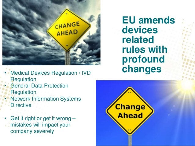 EU approach to cybersecurity Currently: • Medical devices Directives (AIMDD, MDD and IVDD) • Risk management under MDD (EN...