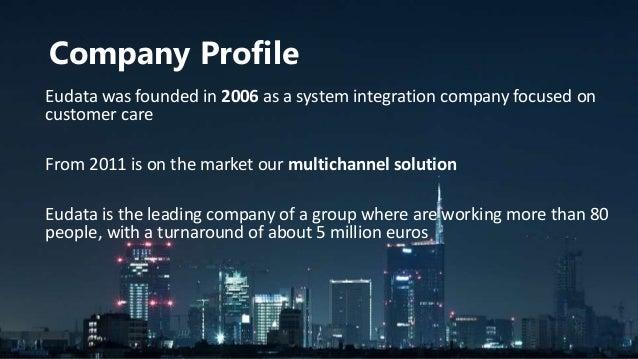 Eudata 2015 - Omnichannel Seamless Customer Experience Slide 3