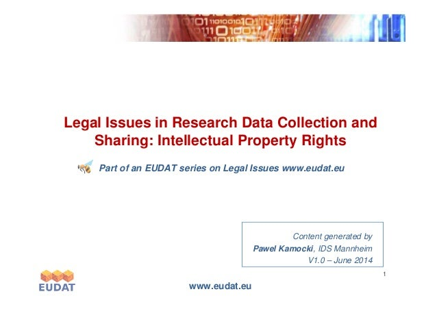 Exponentialgrowth Legal Issues in Research Data Collection and Sharing: Intellectual Property Rights www.eudat.eu 1 Expone...