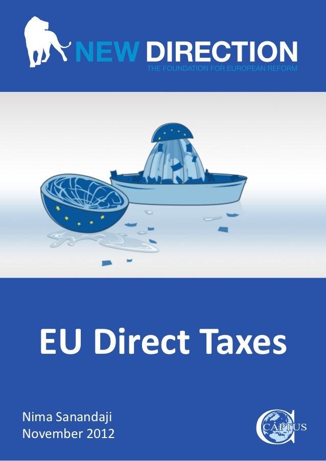 EU Direct TaxesNima SanandajiNovember 2012