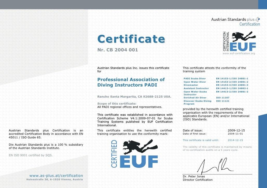 Certificate                                                       Nr. CB 2004 001                                         ...