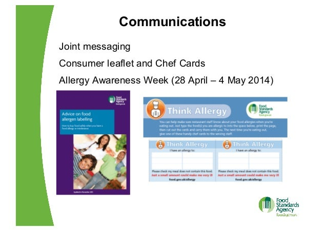 Eu food regulations food allergen labelling 25 communications joint messaging consumer leaflet and chef cards forumfinder Image collections