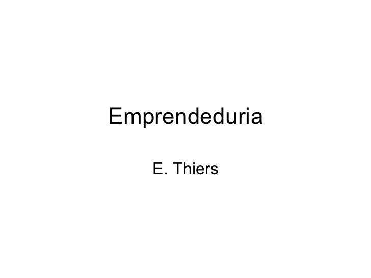 Emprendeduria E. Thiers
