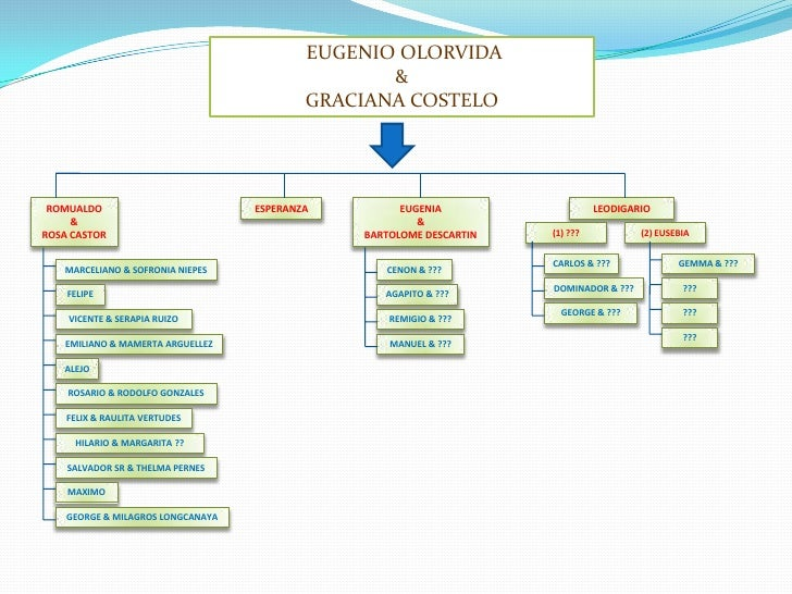 EUGENIO OLORVIDA<br />&<br />GRACIANA COSTELO<br />ROMUALDO<br />&<br />ROSA CASTOR<br />ESPERANZA<br />EUGENIA<br />&<br...