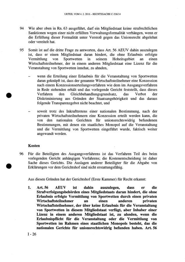 Urteil des EuGH in der Rechtssache Ince (Rs. C-336/14)
