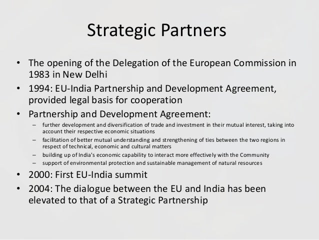 policy proposals for the cooperation between india and the european union Eu-india relations, fact sheet further extended cooperation between the european union and india india discuss foreign policy and security.