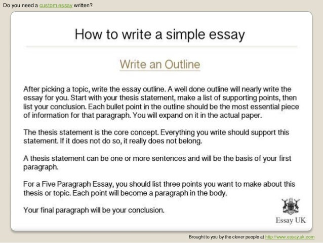 Simple essay writing