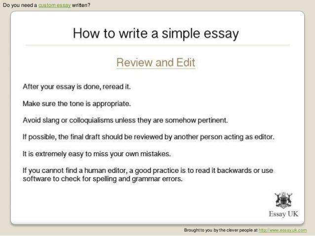 how to write a simple essay essay writing help