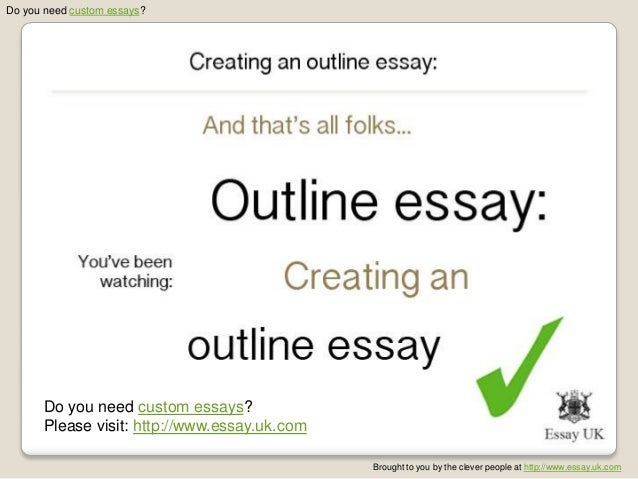 Creating an outline for an essay