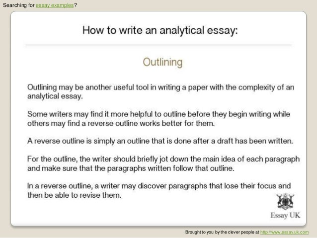 how to write an analytical essay essay examples  6 searching for essay examples