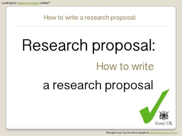 reason for writing research proposal