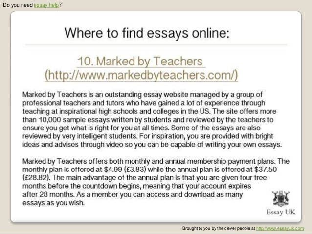 Top sites to buy an essay