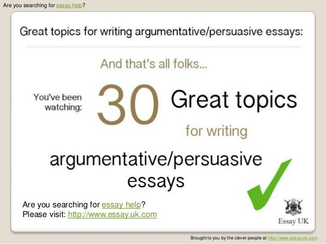 Help writing an argumentative essay guidelines