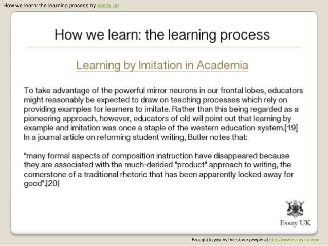 learning process essay