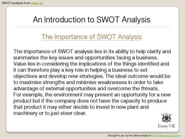 Swot analysis essays