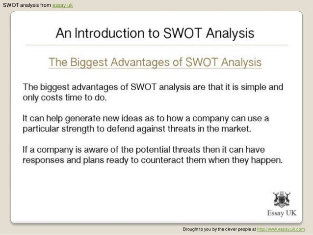 an introduction to swot analysis 11 swot analysis from essay