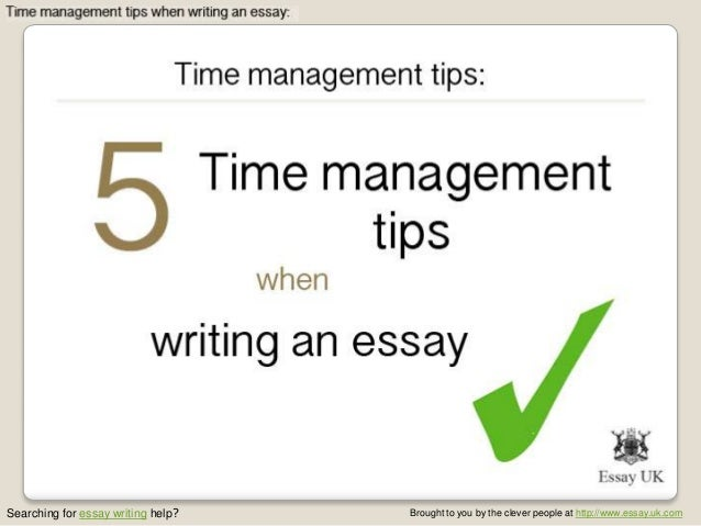 Essays on time management skills