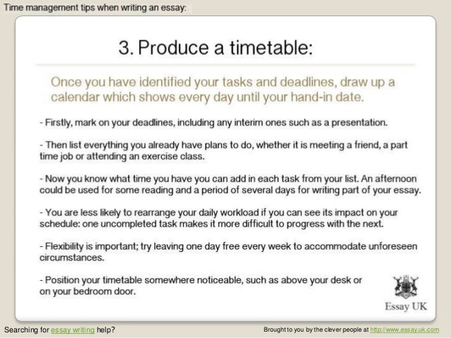 Essay writing 5 time management tips when writing an essay