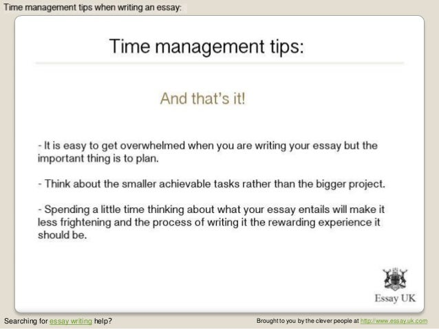 Strategies for writing a timed essay